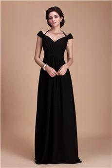 df60dc2b2b7f Fantástico Vestido de Dama de Honor Silueta Línea A Largo al Piso ...