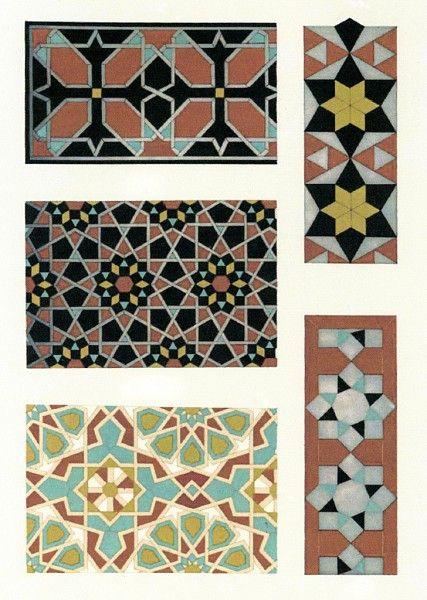 الفنون الاسلامية انماط من الفن الاسلامى أنماط هندسية وحدود Les Elements De L Art Arabe Joules Bourgoin Islamic Art Pattern Islamic Patterns Pattern Art
