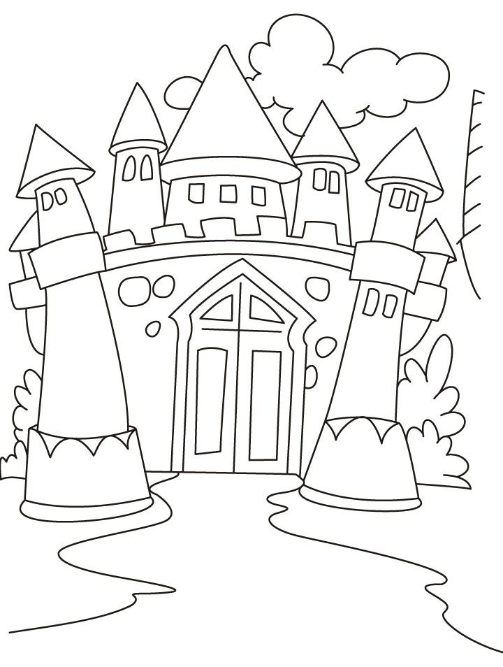 Castles Coloring Pages Origami Pinterest Coloring Pages - Castle-coloring-pages-to-print