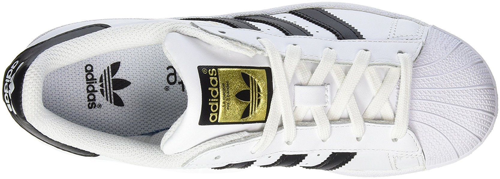 the best attitude 75b5b 2a2df Adidas Originals Superstar, Chaussures Sneaker Mixte Enfant - Blanc (ftwr  White core Black