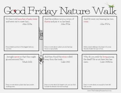 Good Friday Nature Walk Printable Pack (With images