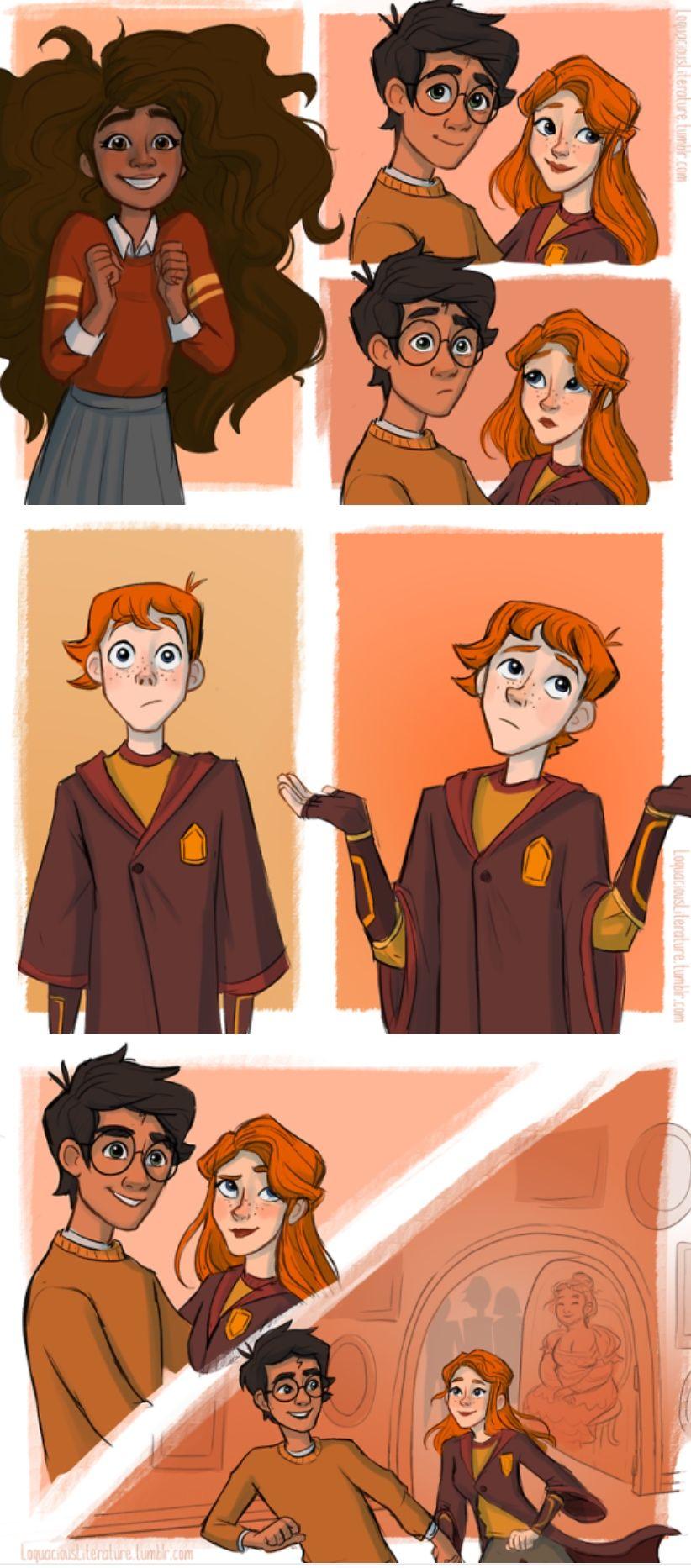 Harry and Ginny kiss part 3 | Harry potter comics, Harry ...