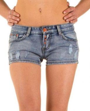 Korte Jeans Broek Dames.Dames Korte Jeans Broek Used Look Blauw 16 99 34 T M 42