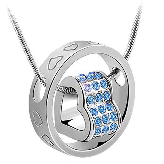 korpikus® Silber Farbe Metall Jewelled Kristallherzen gravierte Ring ...