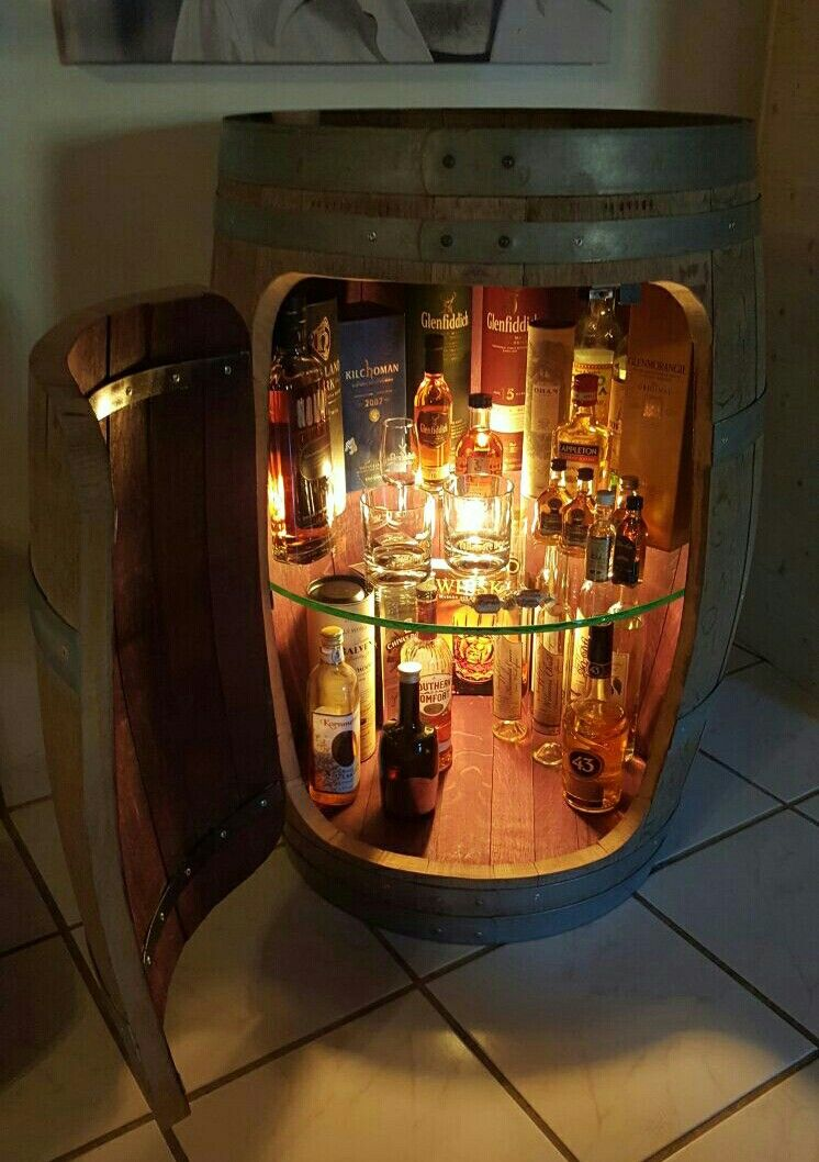 Whiskyfass Vitrine Diy Wine Barrel Bar Wine Barrel Furniture Barrel Bar