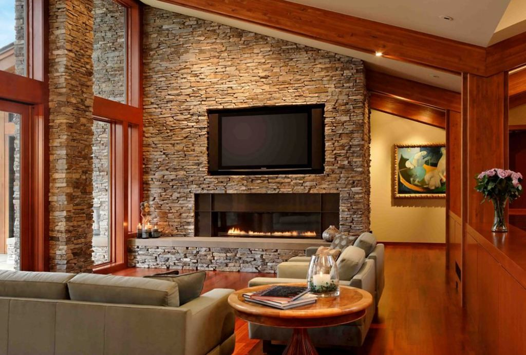Love Interior Stone Wall. So Elegant And Unique. Easy To Do With Our  Residential Urestone Lite Faux Stone Panels. So Much More Realistic Than  Other Faux ...