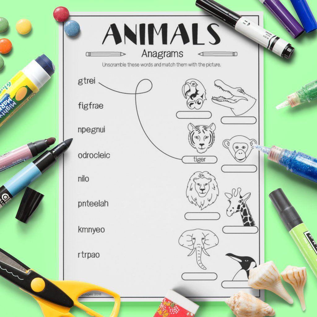 Wild Animals Anagrams