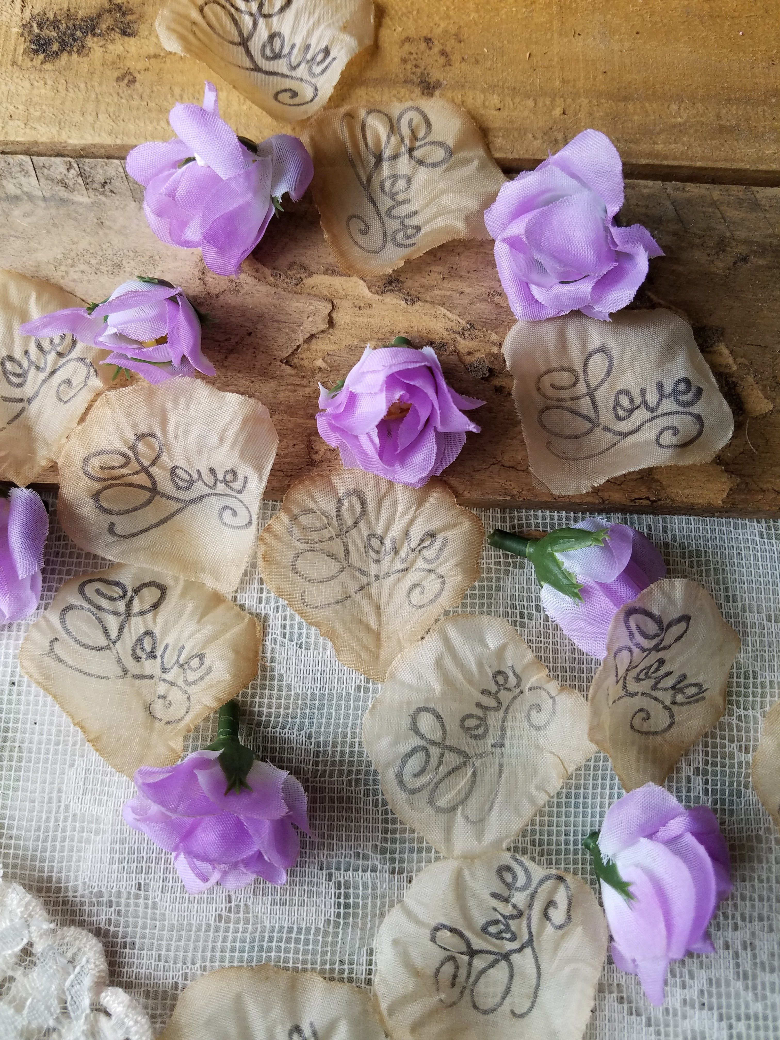 Lavender Rosebud Table Ter Wedding Confetti Flower Petals And