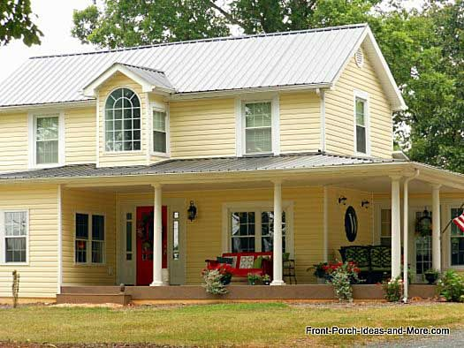 Country Porches White Trim Front Doors And Doors