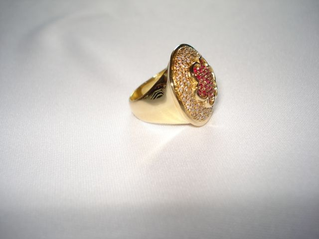 anel  com diamante e rubis modelo exclusivo