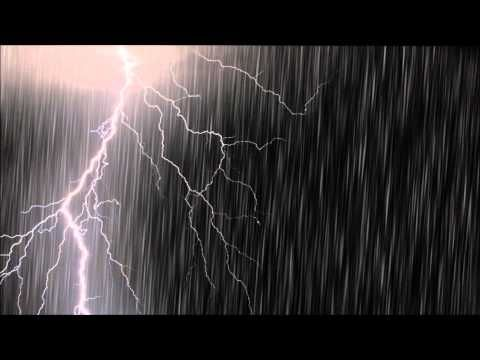 環境音】雷雨強め1時間/Thunder and Rain 1 hour/勉強用BGM