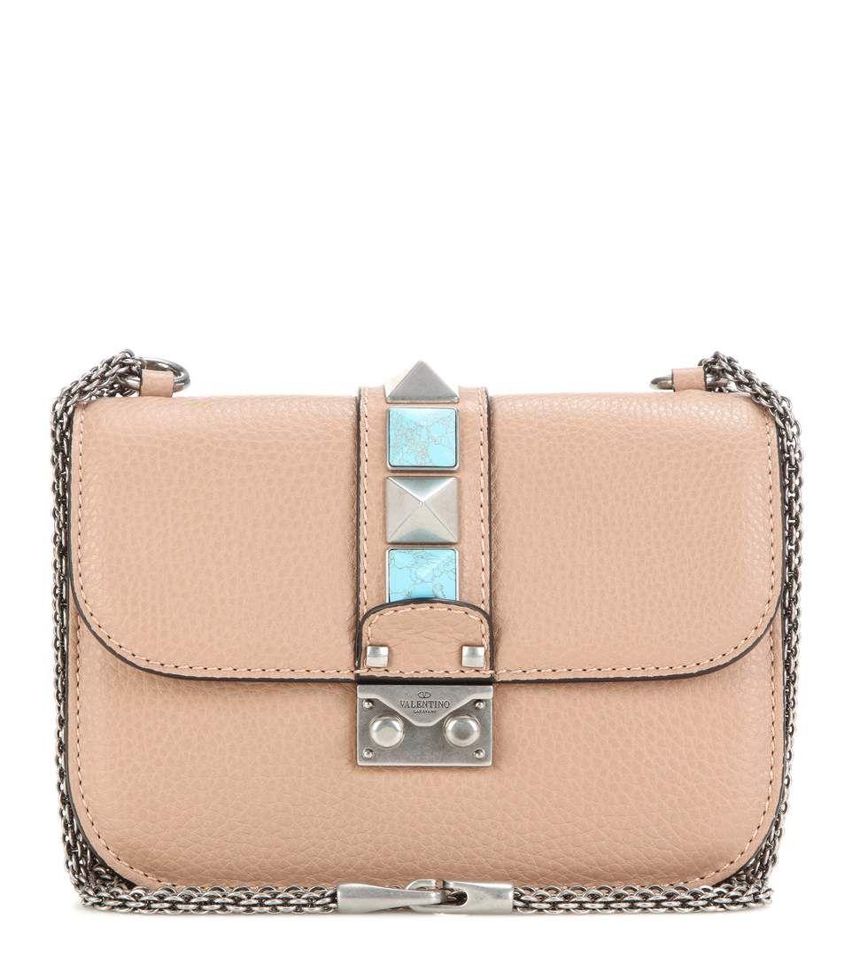 5bde5889fa VALENTINO Lock Small Leather Shoulder Bag. #valentino #bags #shoulder bags # leather #lining