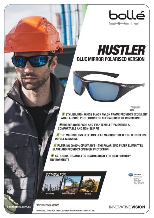 056fc25b3d All New Bolle Hustler Blue Mirror Polarised Glasses