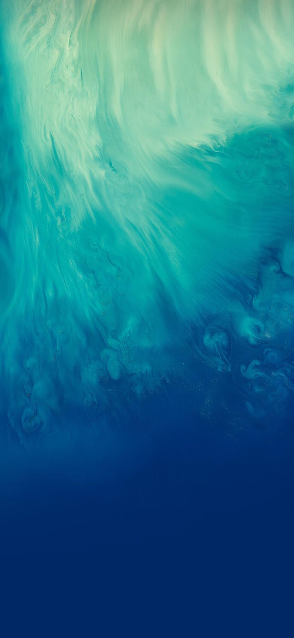 iOS 11, iPhone X, Aqua, blue, Water, underwater, abstract