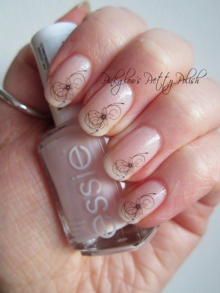 Pinkglow's Pretty Polish - Elegant French Manicure with Born Pretty Store Water Decal Review*
