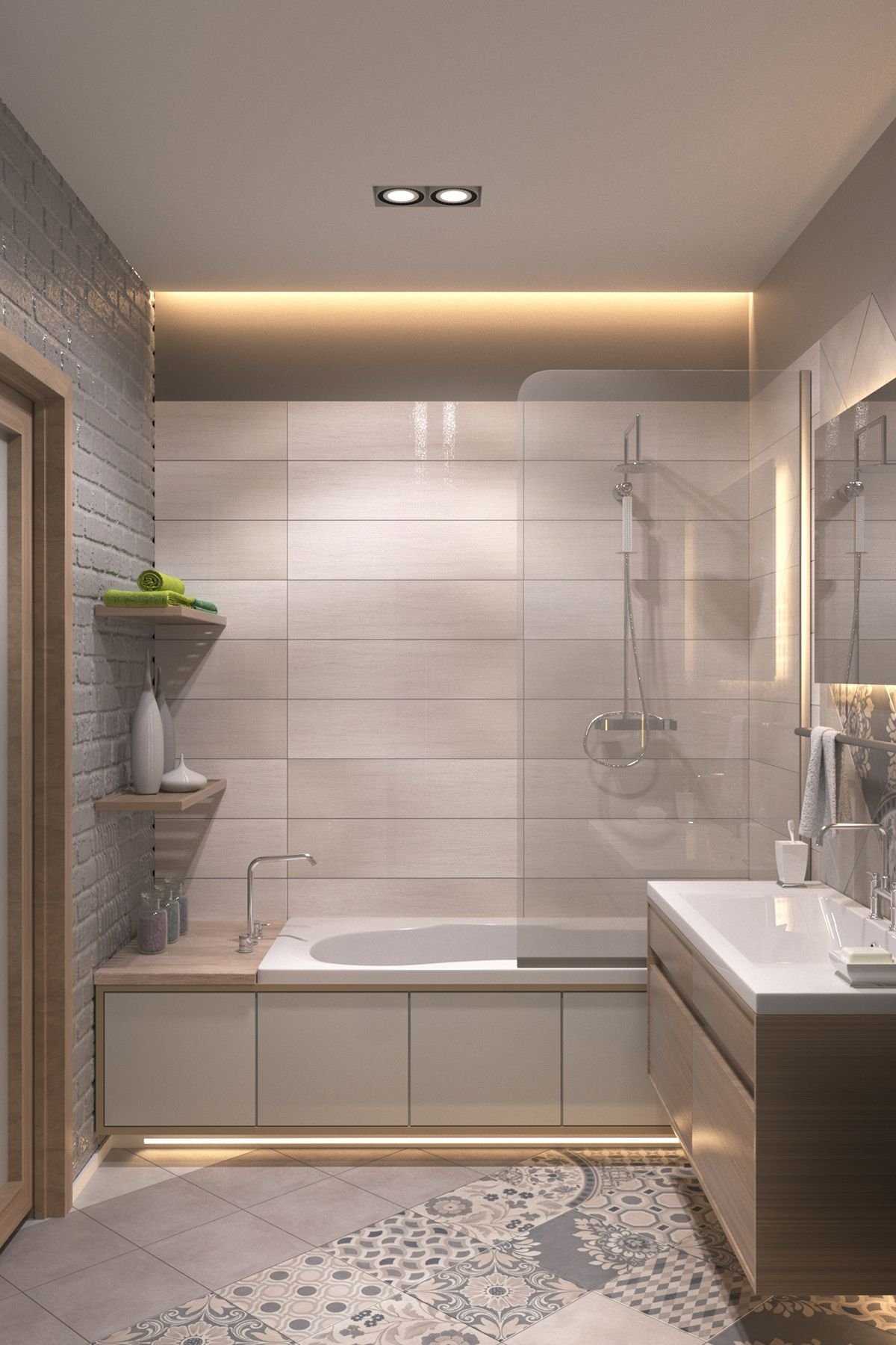 Pomysł Na łazienkę In 2019 Modern Bathroom Decor