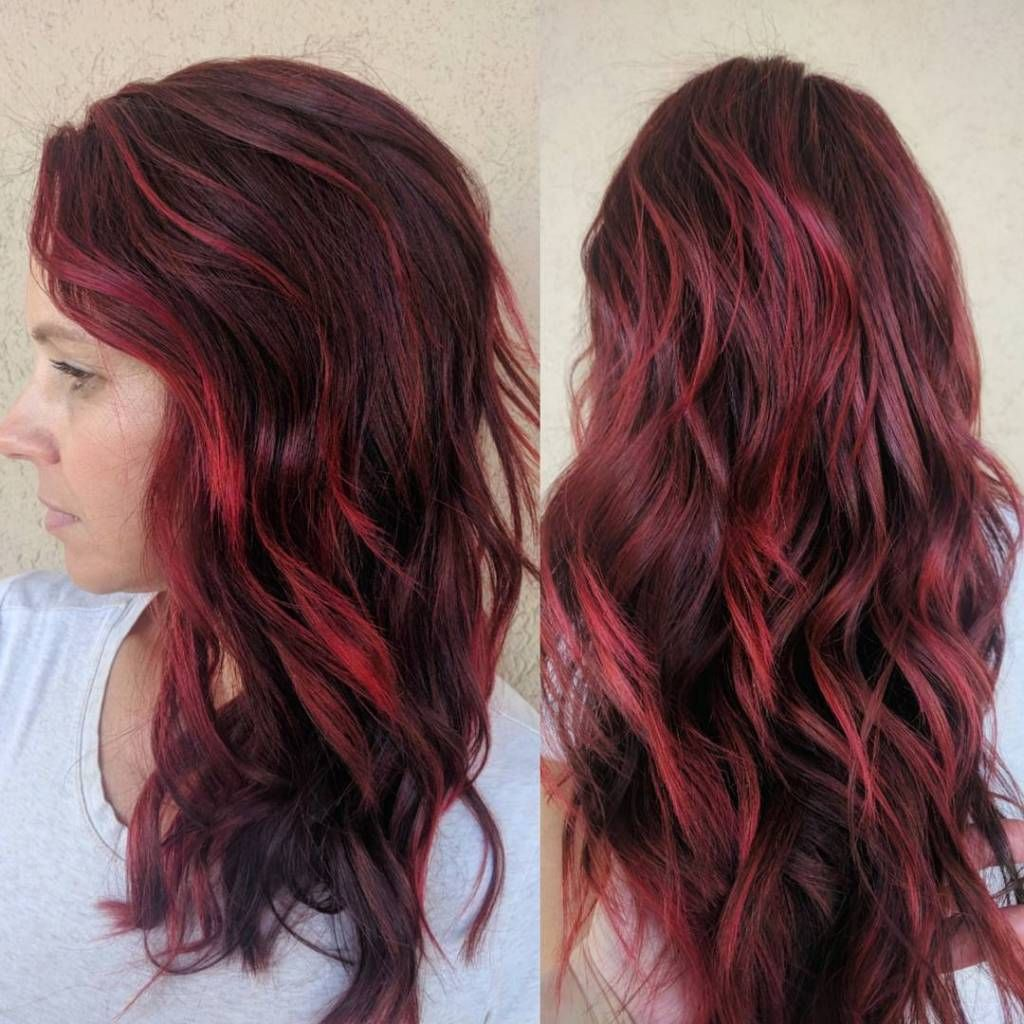 The Best Brown Hair With Red Highlights Hairstyles Red Highlights In Brown Hair Brunette Hair Color Red Brown Hair