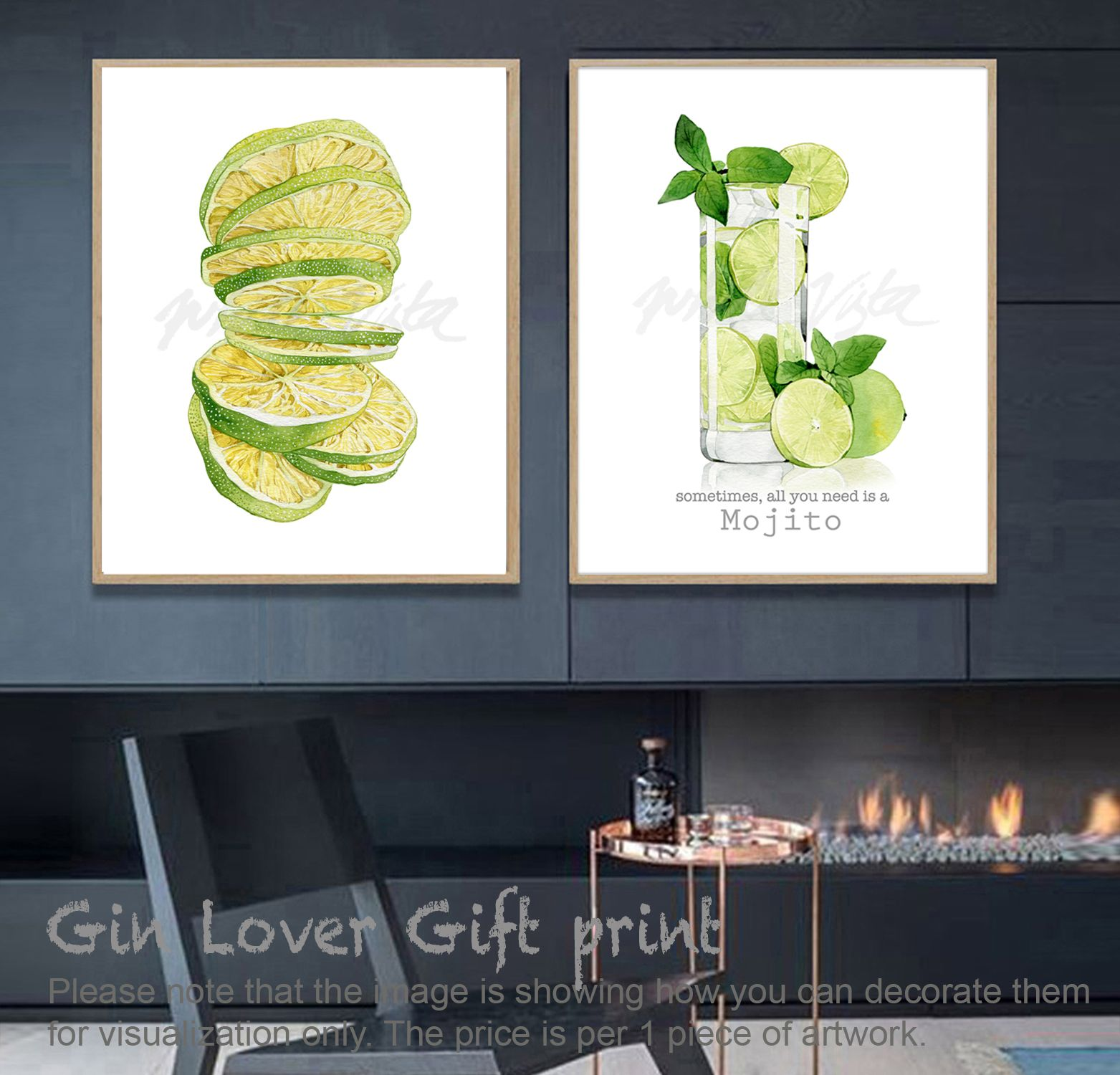Cocktail Print Mojito Alcohol Print Bar Wall Art Drink Poster Alcohol Poster Signature Cocktail Feminist Quote Decor Digital Downlo Signature Cocktail Cocktail Art Mojito