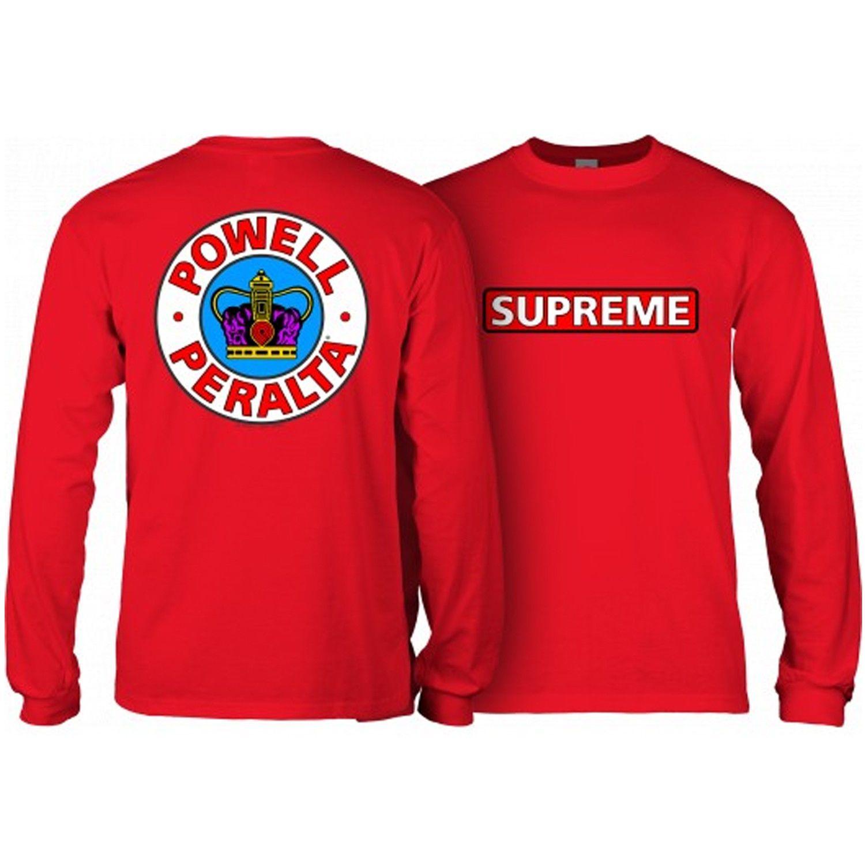 2963d3359 34.95 | Powell Peralta Skateboard Long Sleeve Shirt Supreme Red ❤ #powell # peralta #skateboard #sleeve #supreme #vintage #Blogger #Mens #fashionista  #Noche ...