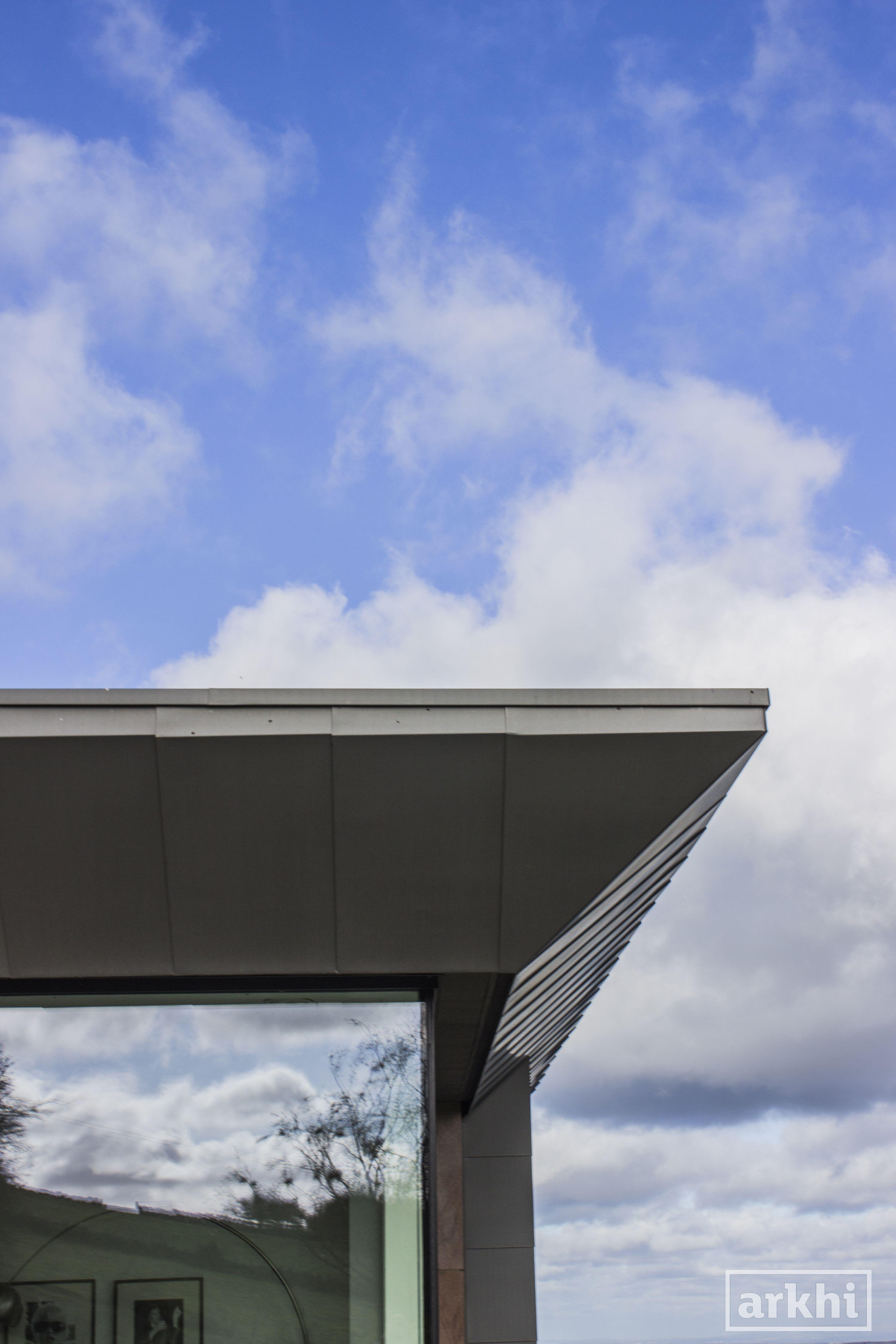 Best Arkhi Cloudhaus Contemporary Zinc Roof Overhang Details 400 x 300