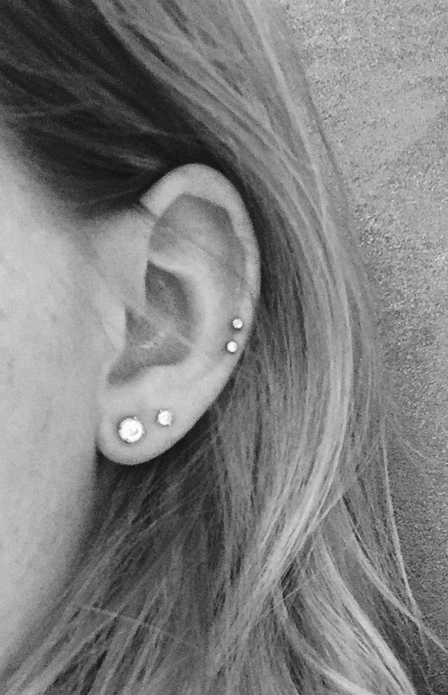 double cartilage piercing - #cartilage #double #Piercing #earpiercingideas