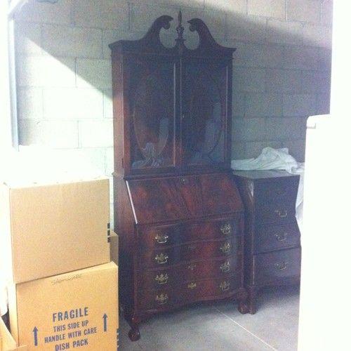 Chippendale Mahogany Secretary Desk Jasper Cabinet Company ...