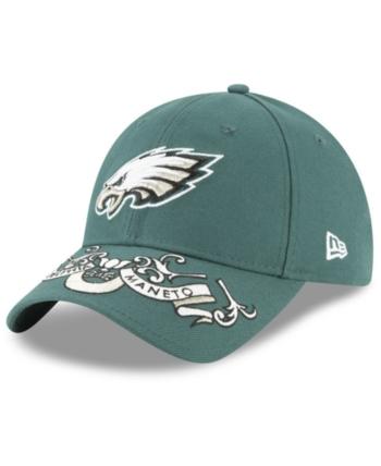 huge selection of 091d7 5dd6a New Era Women s Philadelphia Eagles Draft 9TWENTY Strapback Cap - Green  Adjustable