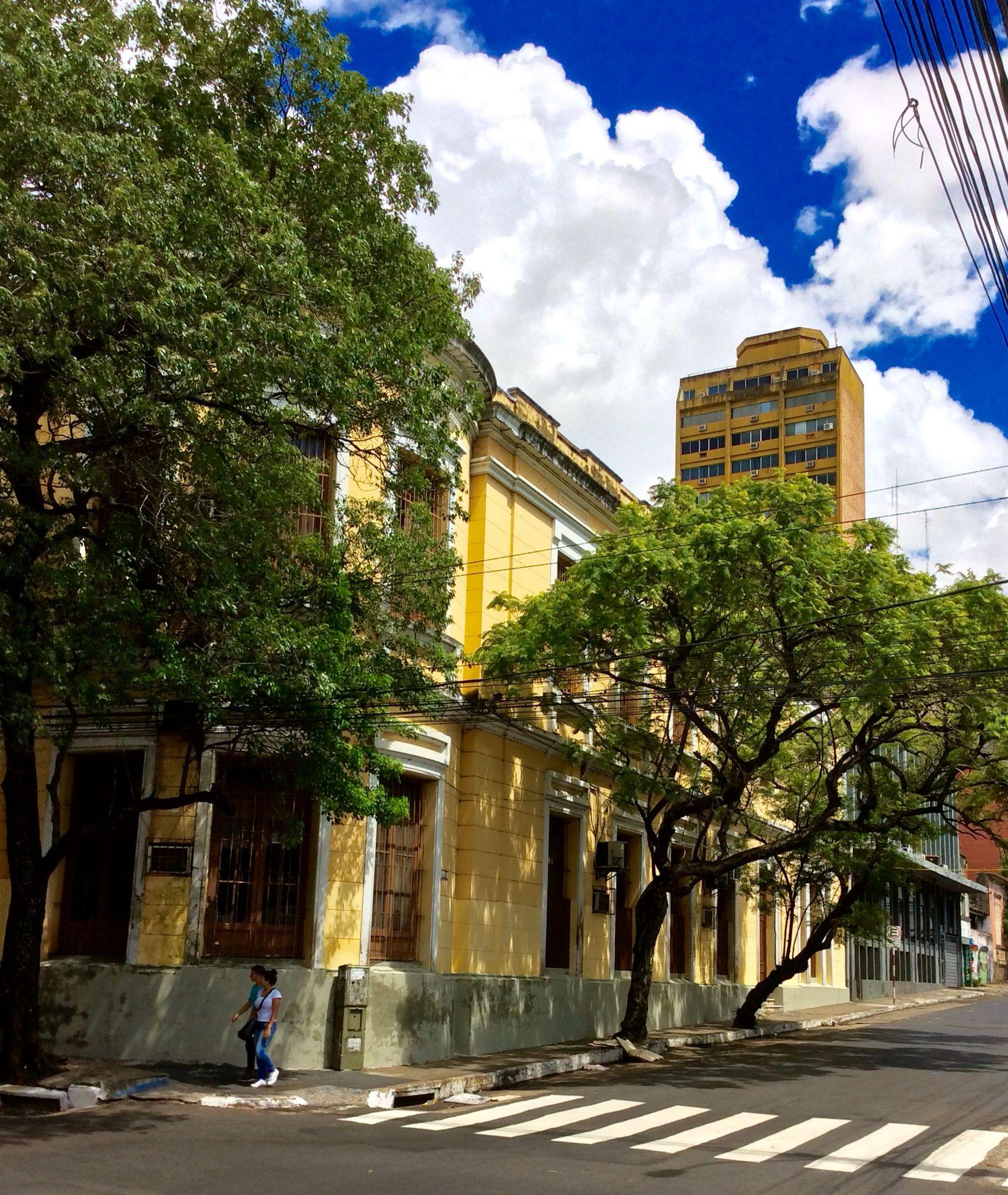 Edificio Antiguo Y Arboles Asuncion Paraguay Structures Road Alley