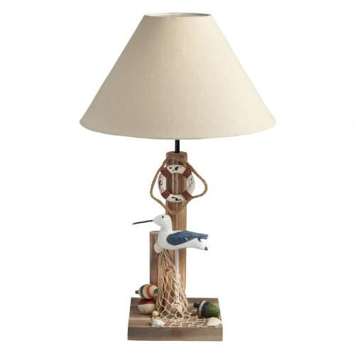 One of my favorite discoveries at ChristmasTreeShops.com: 22.5� Wood Pier and Seagull Table Lamp