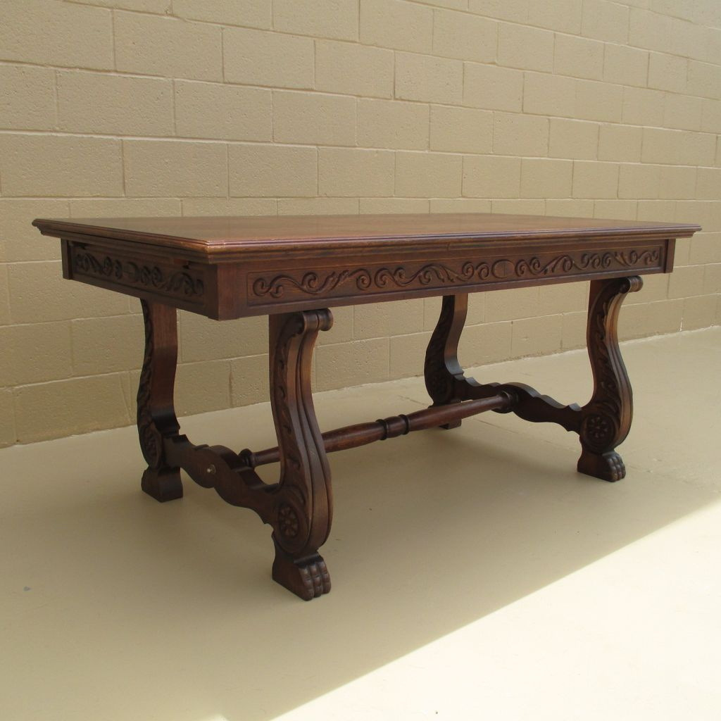 French Antique Dining Table Desk Table Antique Furniture!