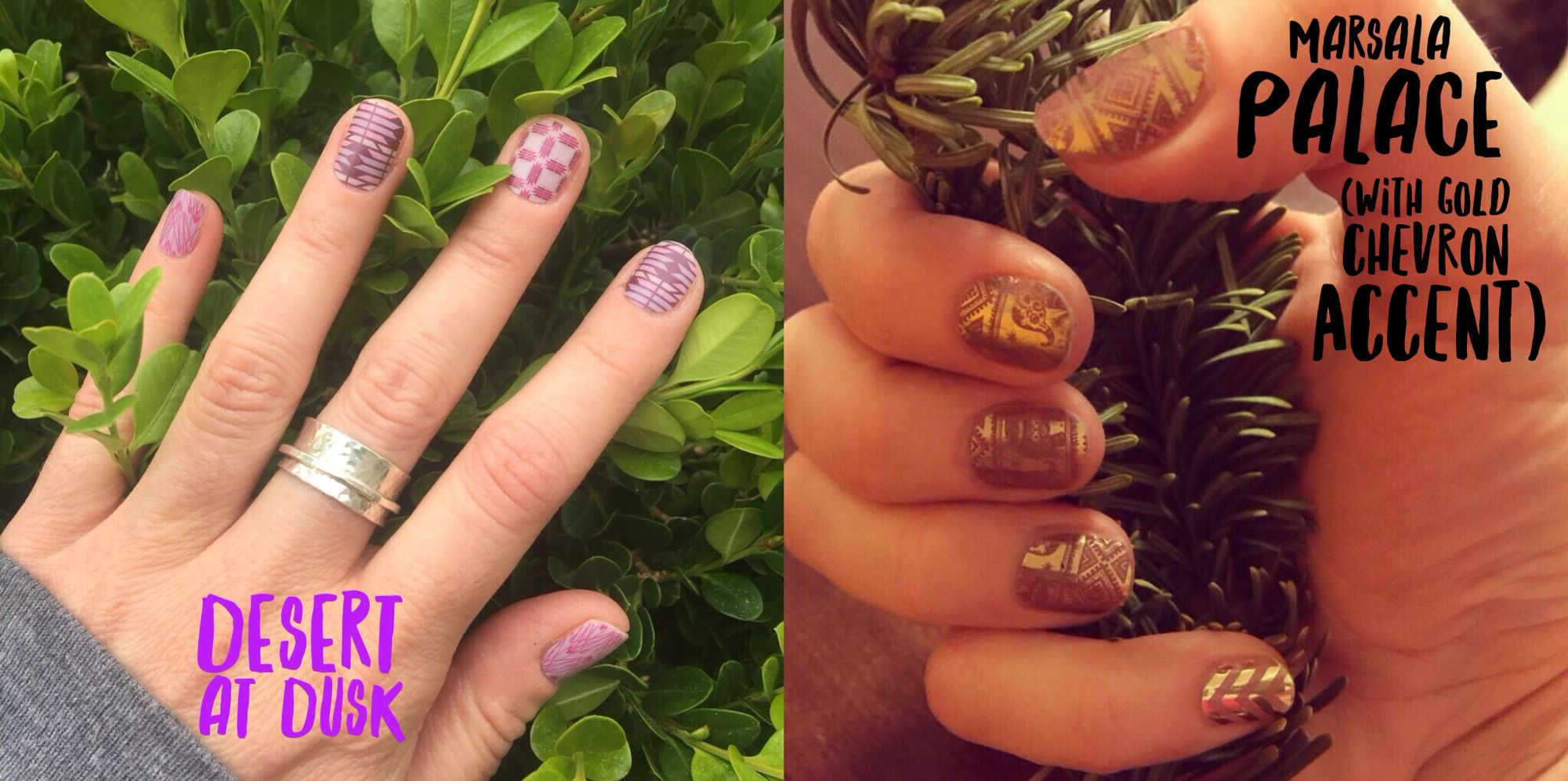 "Which ""Going, Going, Gone"" #Jamicure is your favorite in this Battle of the #GGG Jams? #Jamberry #desertatduskjn #marsalapalacejn #nails"