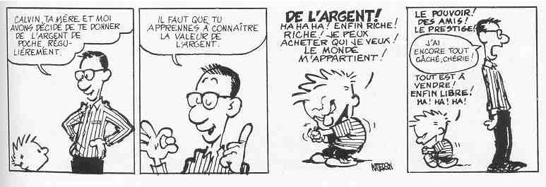 Calvin et l'argent de poche
