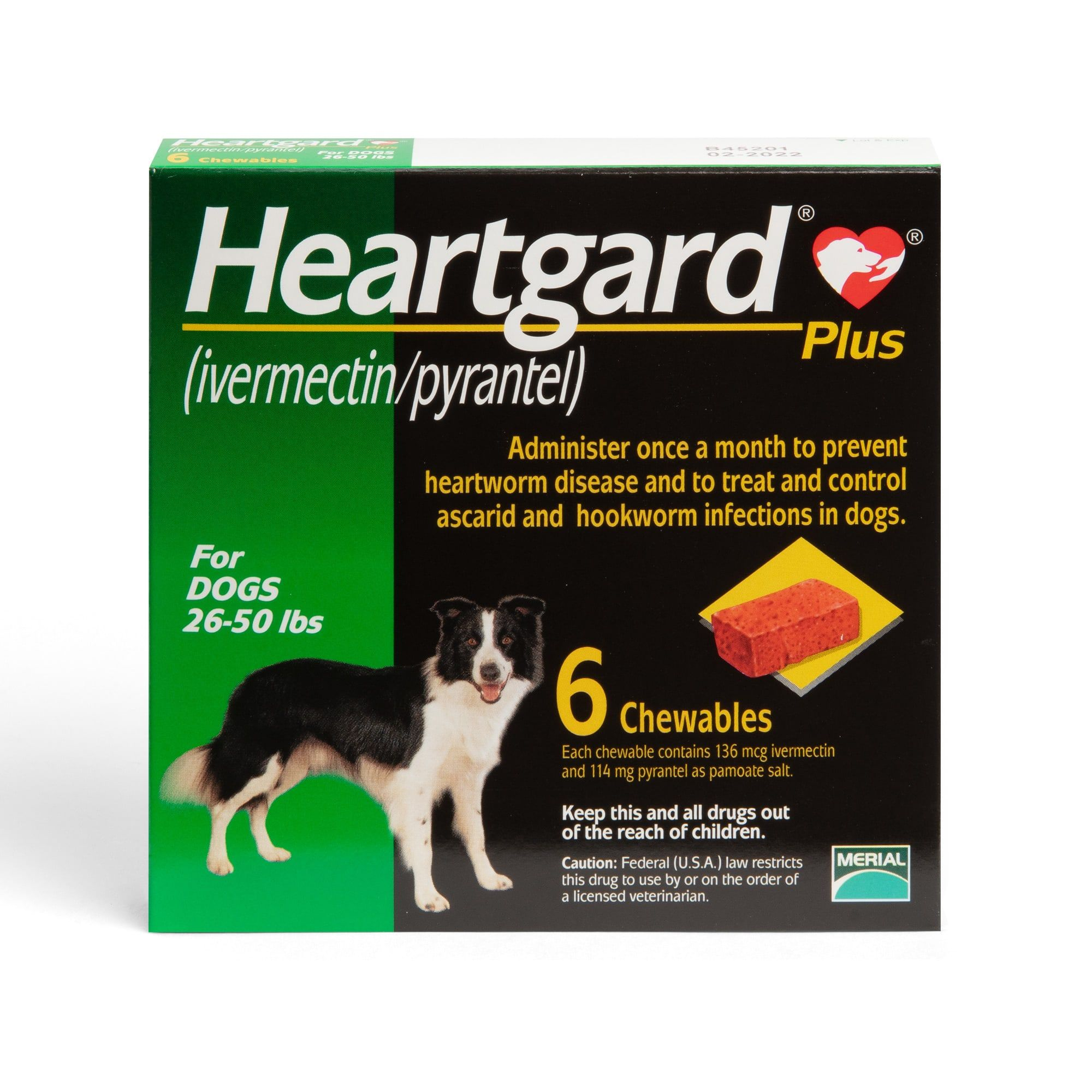 Heartgard Plus Chewables For Dogs 26 To 50 Lbs 6 Count Petco In 2020 Heartworm Prevention Heartworm Disease Heartworm