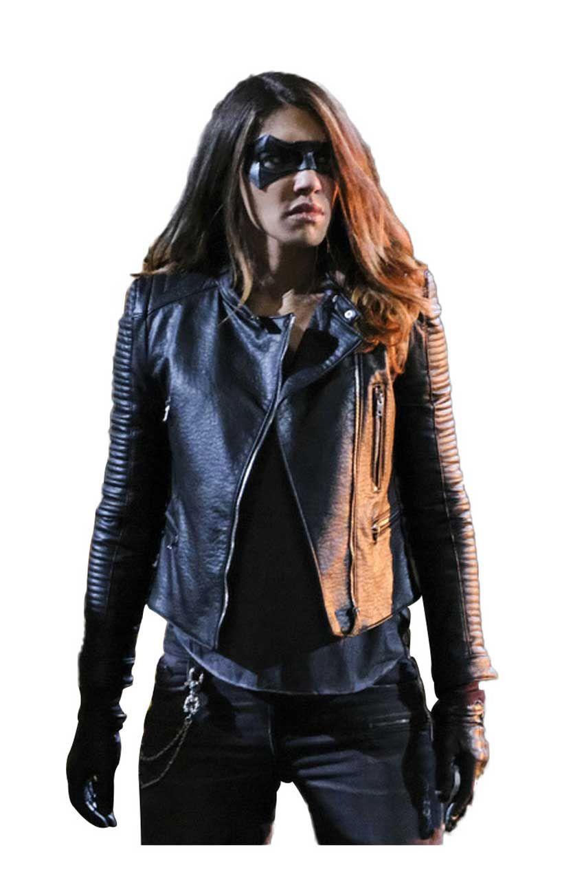 Juliana Harkavy Arrow Season 6 Dinah Drake Leather Jacket Tlm [ 1300 x 850 Pixel ]