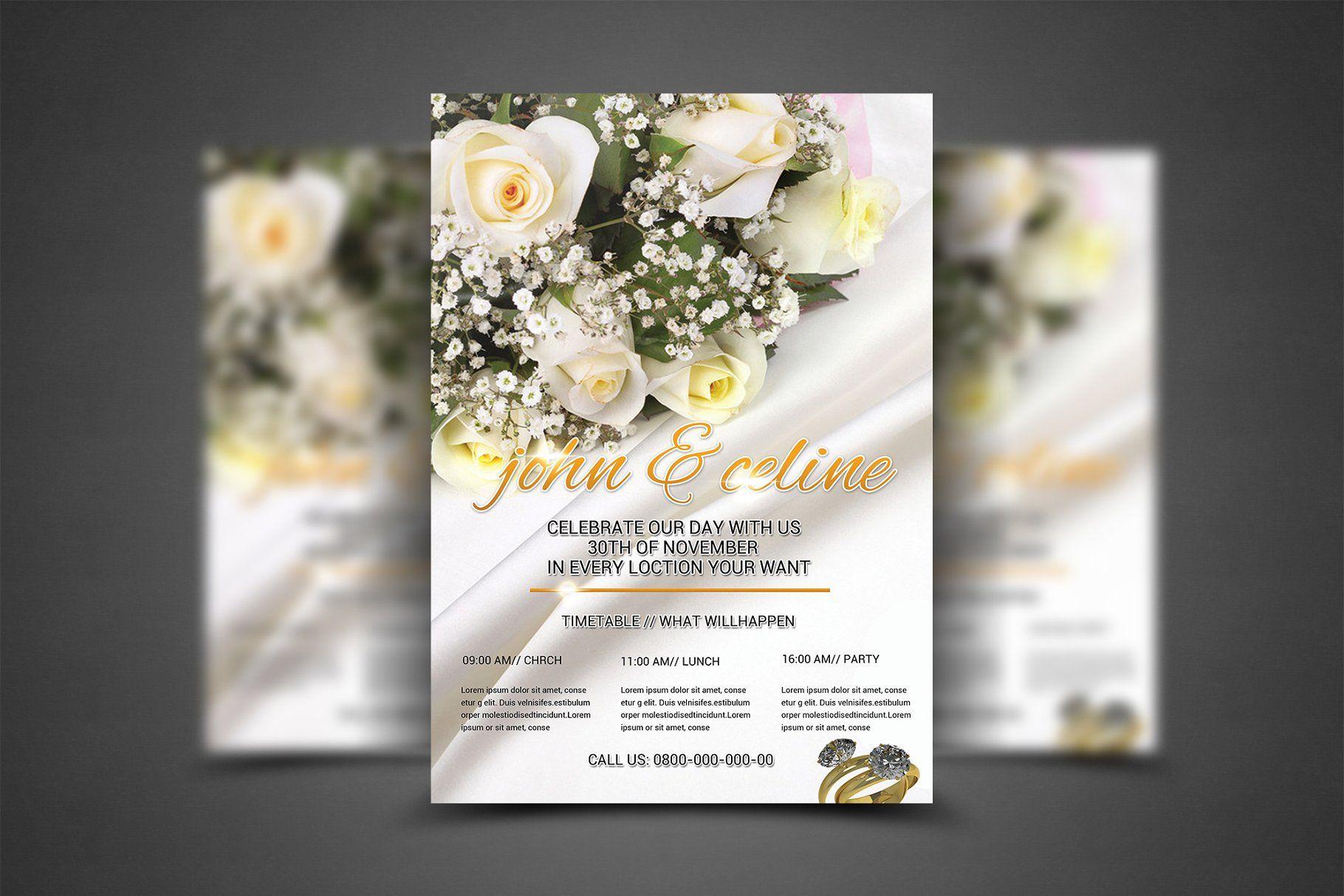 wedding flyer template flyer wedding templates template web