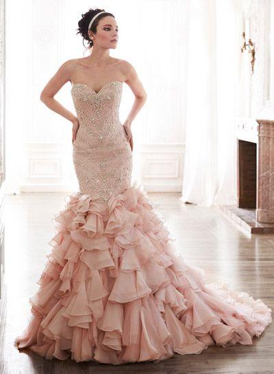 vestidos de novia: el rosa es el nuevo blanco | vestidos glamurosos