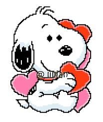 Image result for snoopy with love hearts
