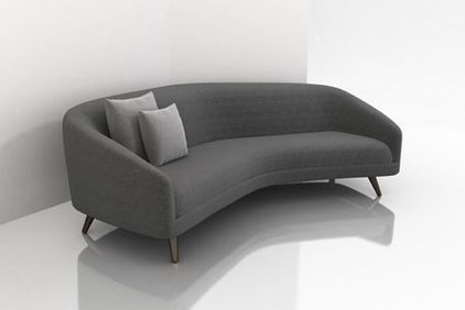 The Petite Version Of The Rounded Sofa Because People In Small