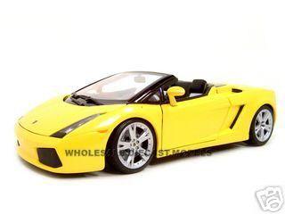 Lamborghini Gallardo Spyder Diecast Model Yellow 1 18 Die Cast Car