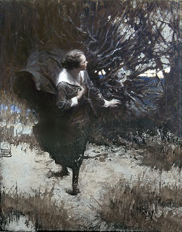 Dean Cornwell [The bottom half of this painting is digitally restored as only the top half exists today]