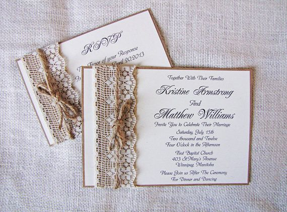 Handmade Rustic Lace and Burlap Wedding by LoveofCreating on Etsy