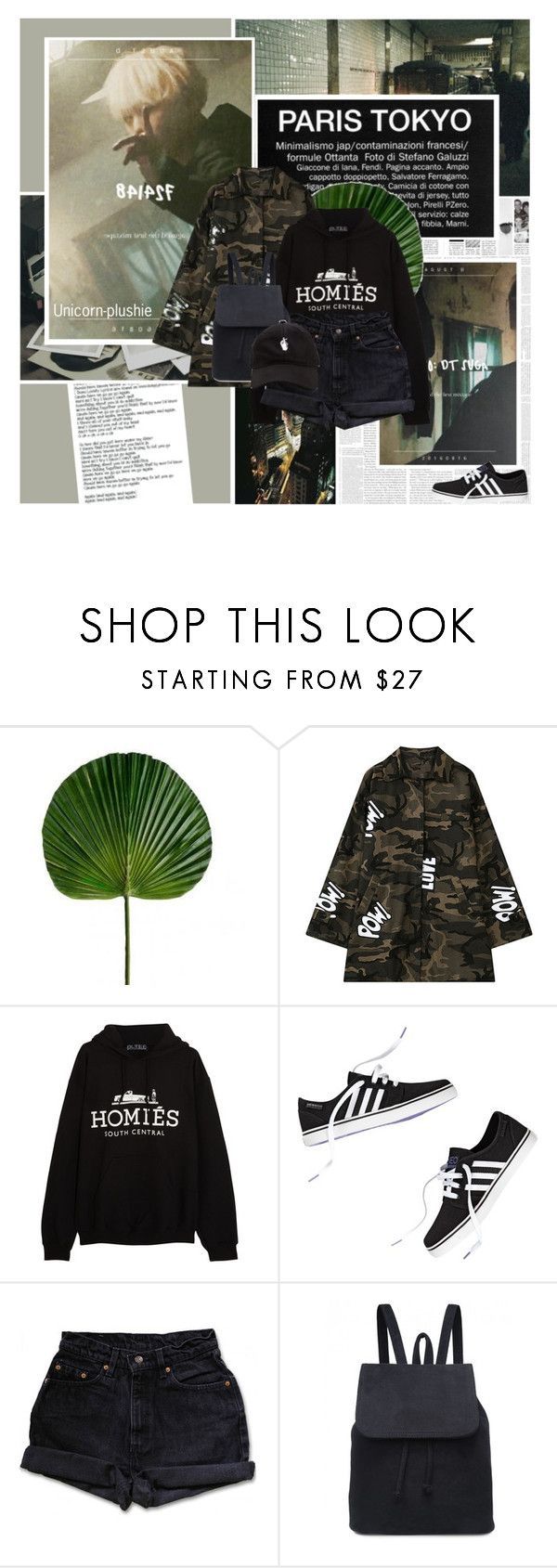 """428: A To The G To The U To The STD"" by unicorn-plushie ❤ liked on Polyvore featuring Again, Polaroid, Chicnova Fashion, Brian Lichtenberg and Levi's"