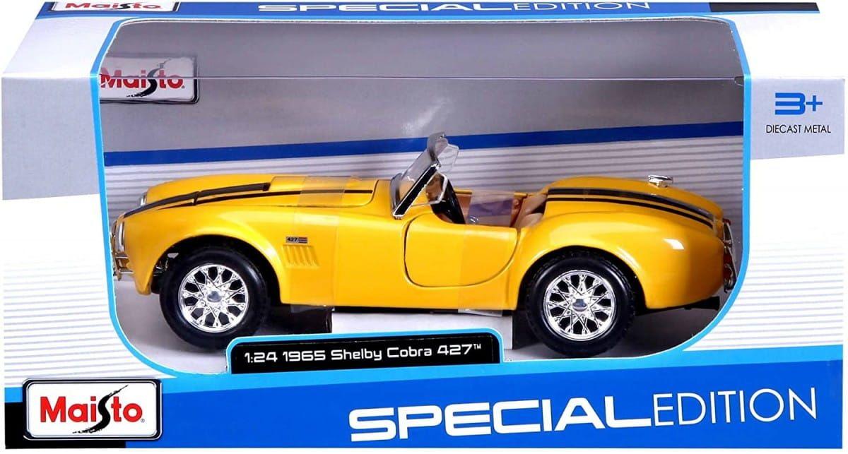 Maisto Model metalowy Shelby Cobra 427 1965 1/24 Żółty