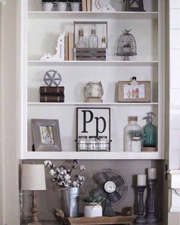 30+ Awesome Farmhouse Bookshelf Design Ideas | Bookcase ...