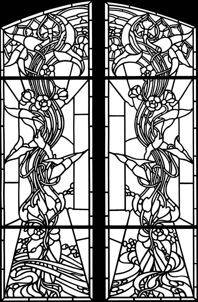 Welcome To Dover Publications Dover Coloring Pages Coloring Books Window Stained