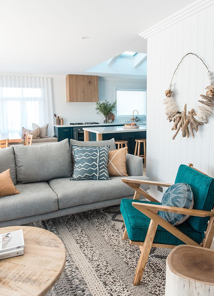 Home Tour 70s Brick Box Transformed Into A Modern Beach House