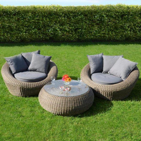 Großartig Sitzgruppe Garten Möbel Rattan