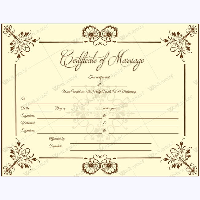 marriage certificate 05 in 2018 legal forms pinterest marriage