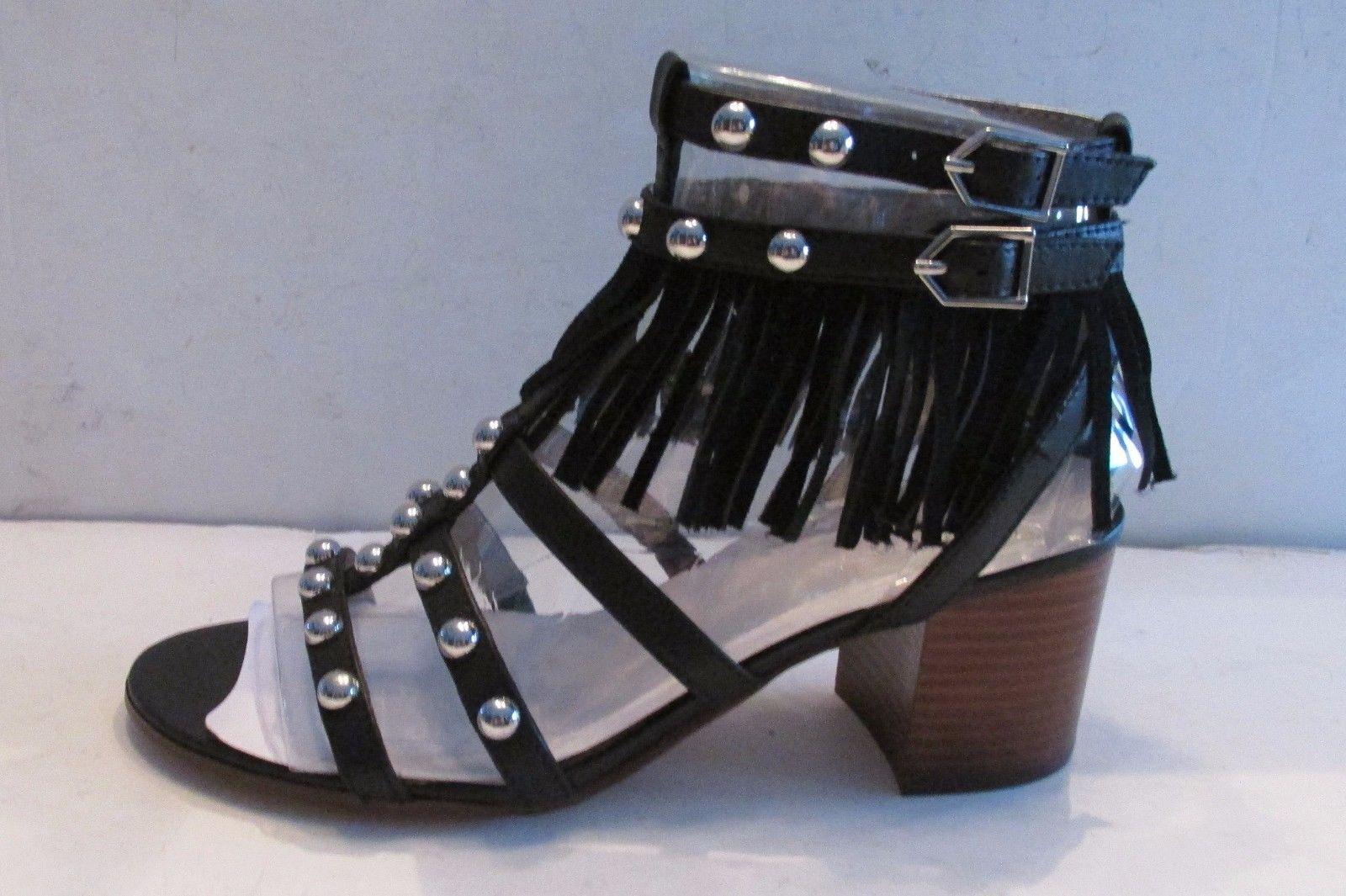 6b8d7506269ff0 79.99 ❤ NIB Sam Edelman 9.5 M SAHELYNN Blacklea Gladiator Sandals Fringe  Silver Studs ❤