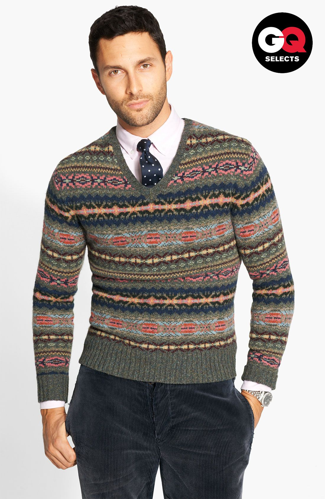 Free shipping and returns on Polo Ralph Lauren Fair Isle Sweater at  Nordstrom.com. Classic ribbing edges a handsome sweater knit from hearty  wool with an ... bfdd2c446d80